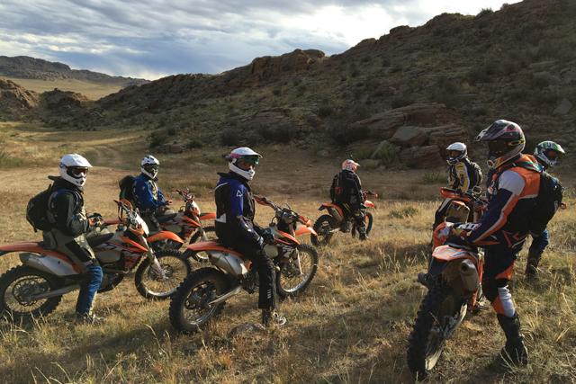 Boys and motorbikes