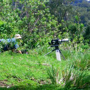 On location on Mount Meru