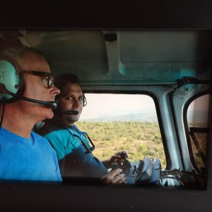 Leander and Craig filming aerials at Leobo Private Reserve, South Africa