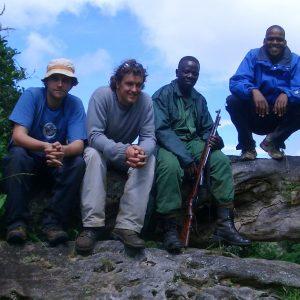 On location on Mount Meru, Tanzania