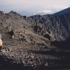 Nearing the summit of Meru